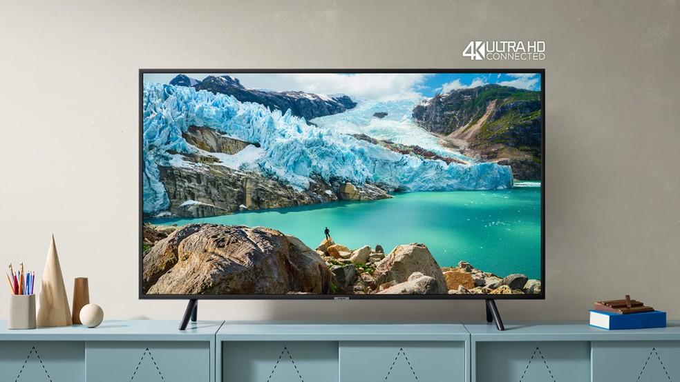 TVs Samsung 4K RU7100 trazem suporte ao iTunes e AirPlay — Foto: Divulgação/Samsung
