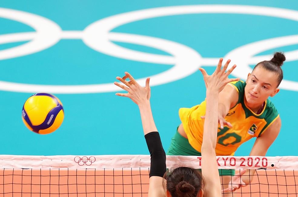 Brasil x Coreia do Sul - semifinal do vôlei feminino nas Olimpíadas de Tóquio  — Foto: Toru Hanai/Getty Images