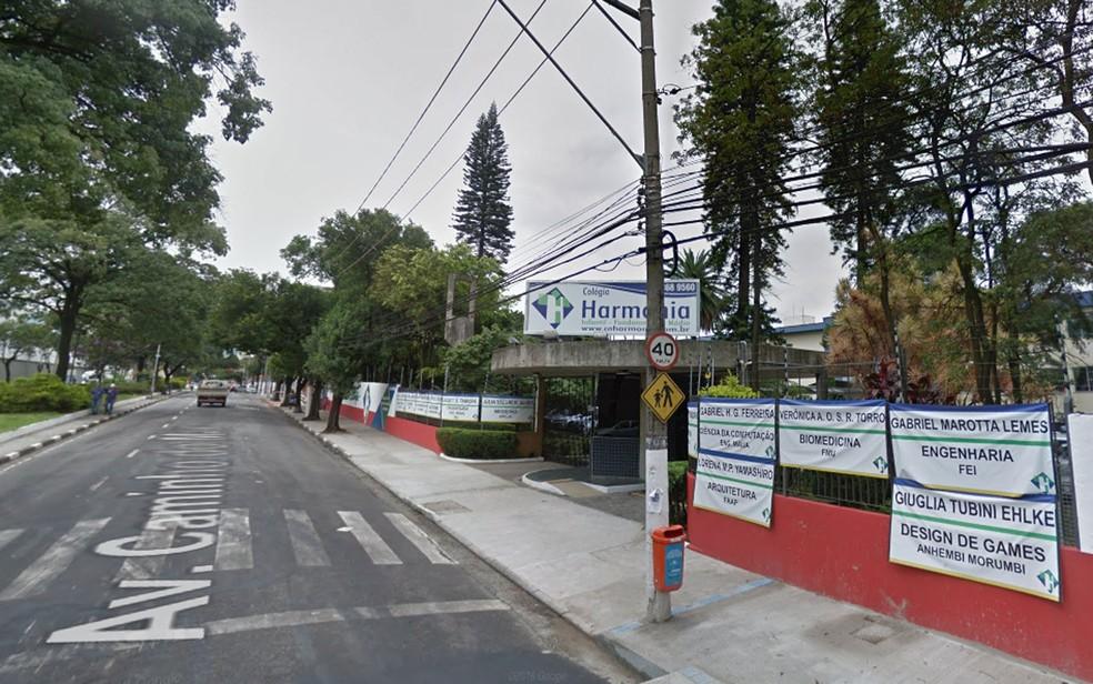 Velocidade máxima no local do acidente é de 40 km/h — Foto: Reprodução/Google Street View
