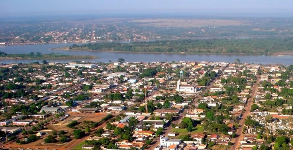 Vista aérea de Guajará-Mirim.  — Foto: Divulgação/Governo de Rondônia