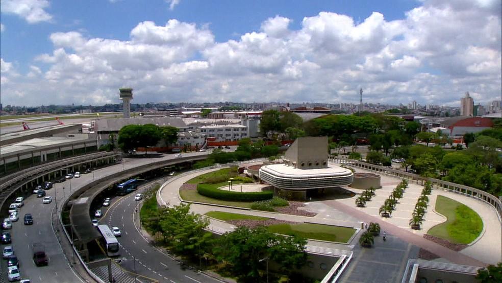 Aeroporto de Congonhas, em imagem de arquivo — Foto: Reprodução/TV Globo