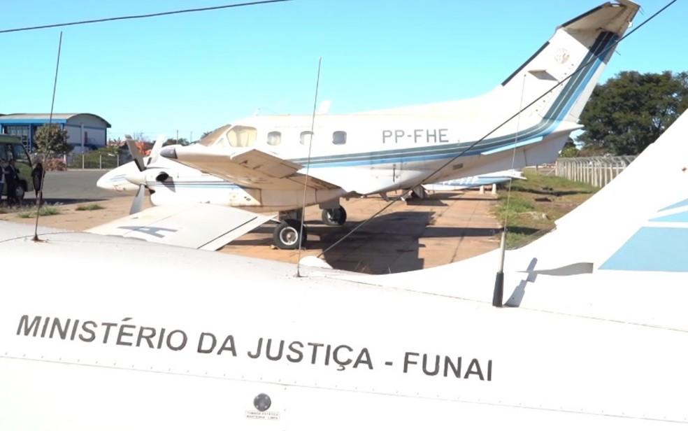 Aviões sucateados estão espalhados por três estados do país e no DF — Foto: Reprodução