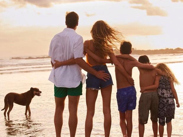 Tom Brady, Gisele Bündchen, John, Benjamin e Vivian (Foto: Nino Muñoz)