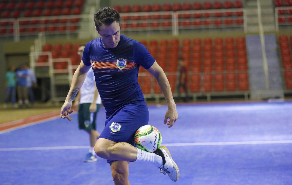 Falcão treino despedida seleção brasileira futsal  — Foto: Divulgação/CBFS