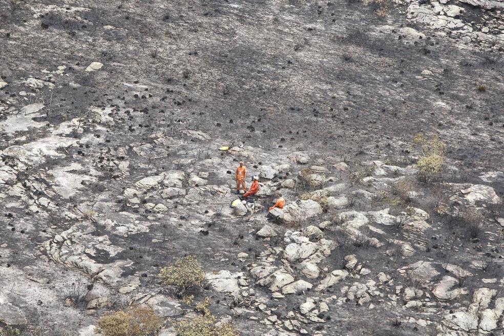 Corpo de Bombeiros decreta extinção dos incêndios florestais na região da Chapada Diamantina — Foto: Paula Fróes/GOVBA