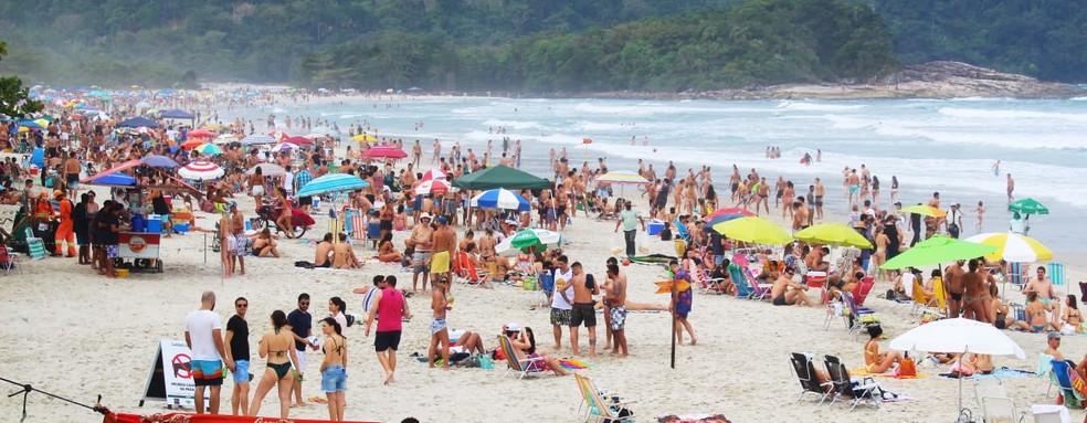 Praia de Cambury, em São Sebastião — Foto: Elton Ramos | PMSS