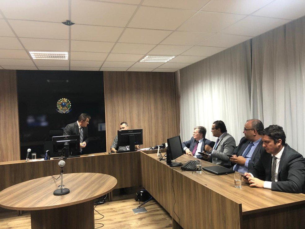 Audiências da operação Lavat começaram nesta terça-feira (19) — Foto: Mariana Rocha/Inter TV