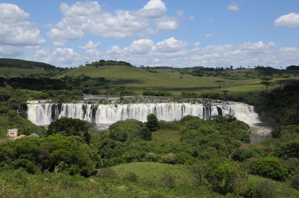 Salto Rio Caveiras, em Lages, em período de chuvas — Foto: Prefeitura de Lages/ Divulgação