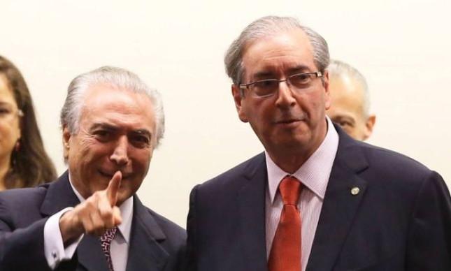 Michel Temer e Eduardo Cunha (Foto: Ailton de Freitas / Agência O Globo)