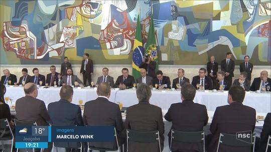 Presidente Bolsonaro recebe jornalistas da região Sul em Brasília