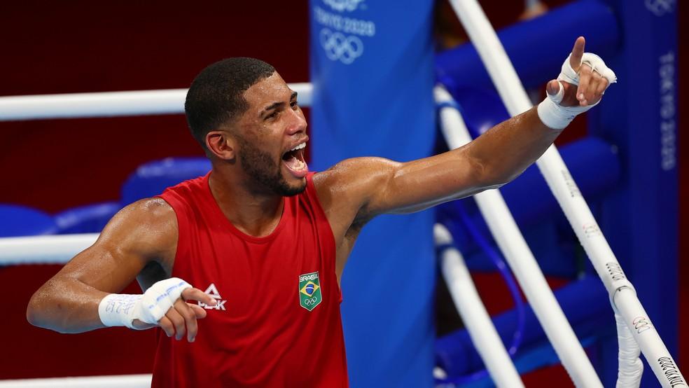 Hebert Conceição, boxe, Olimpíadas de Tóquio 2020 — Foto: REUTERS/Amr Abdallah Dalsh
