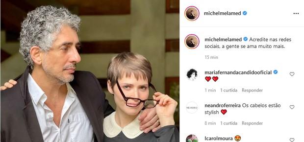 Michel Melamed e Leticia Colin (Foto: Reprodução/Instagram)