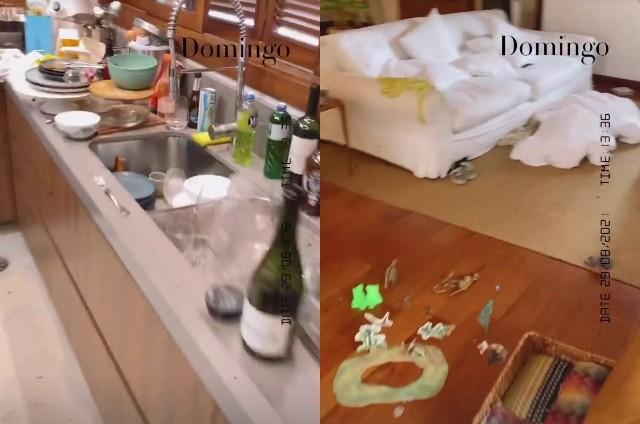 Rafa Brites mostra a bagunça da sua casa (Foto: Reprodução)