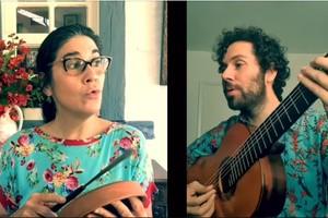 "Monica Salmaso e Alfredo Del Penho no projeto ""Ô de casas"""