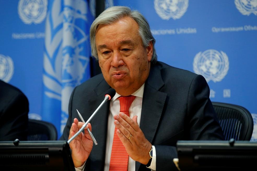 O secretário-geral da ONU, Antonio Guterres (Foto: Mike Segar/Reuters)