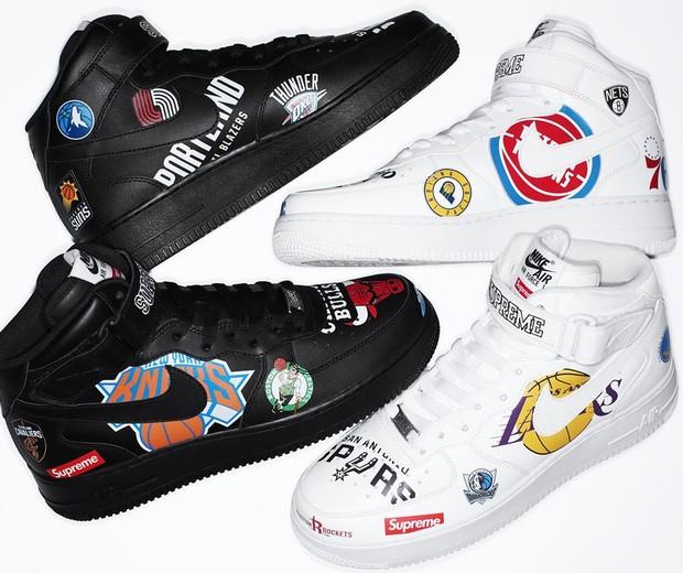 Os incríveis Nixe x Supreme x NBA Air Force 1 (Foto: Divulgação)