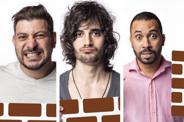 Caio, Fiuk e Gilberto estão no paredão do 'BBB' 21 (Foto: Reprodução)