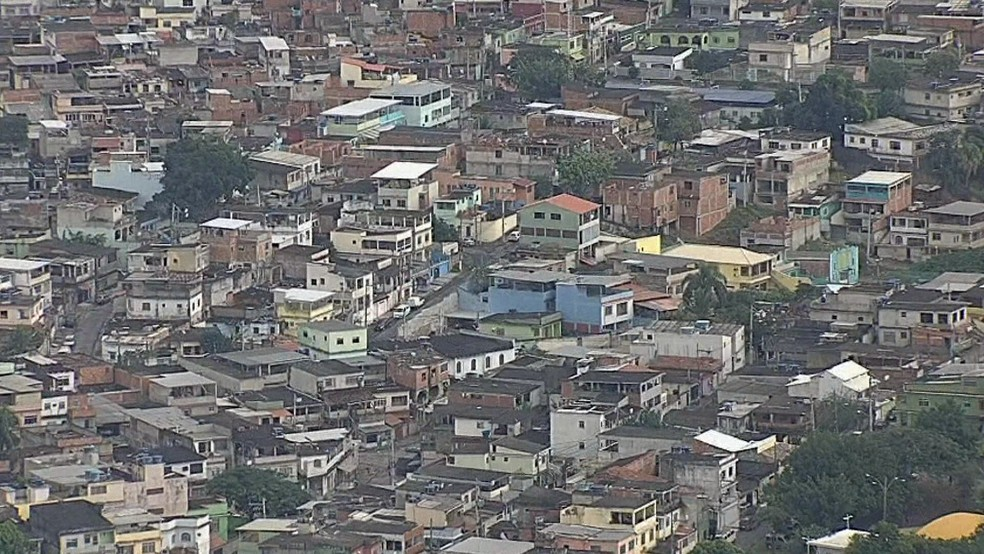 Favela do Batan, na Zona Oeste do Rio — Foto: Reprodução/GloboNews