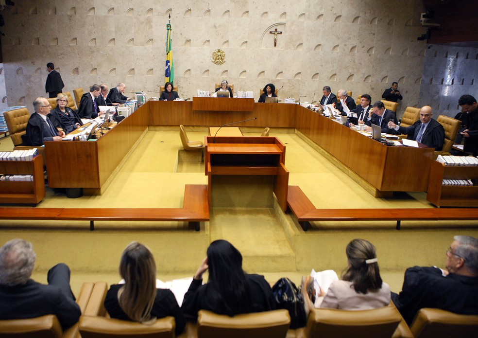 Sessão plenária do STF (Foto: Rosinei Coutinho/STF)