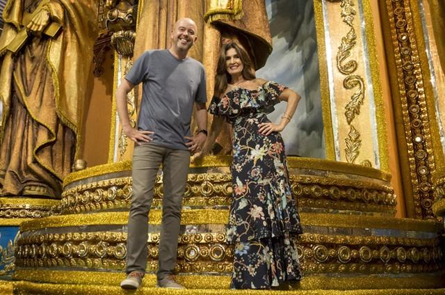 Alex Escobar e Fátima Bernardes (Foto: João Cotta/TV Globo)