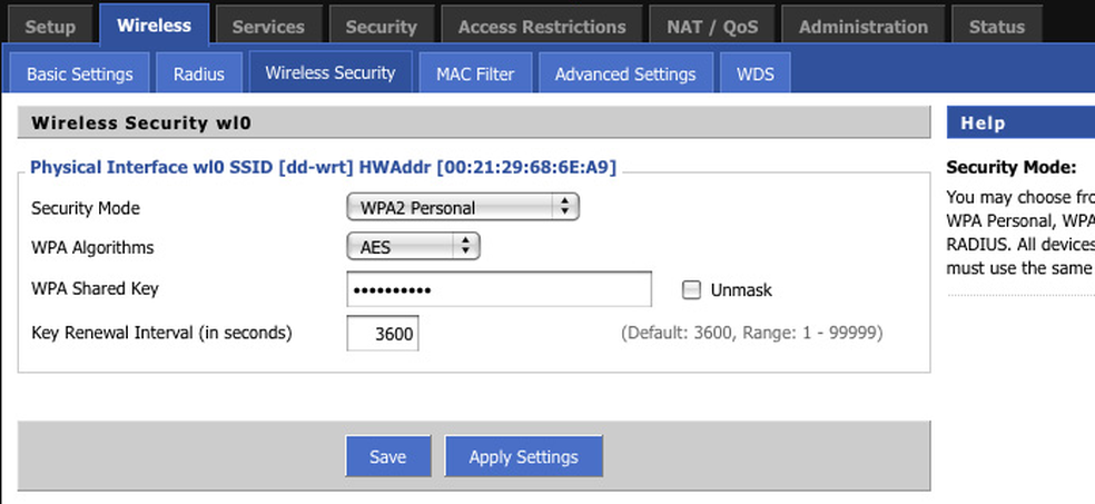 Se tratando de segurança, WPA2 com AES é a melhor opção (Foto: Edivaldo Brito/TechTudo)