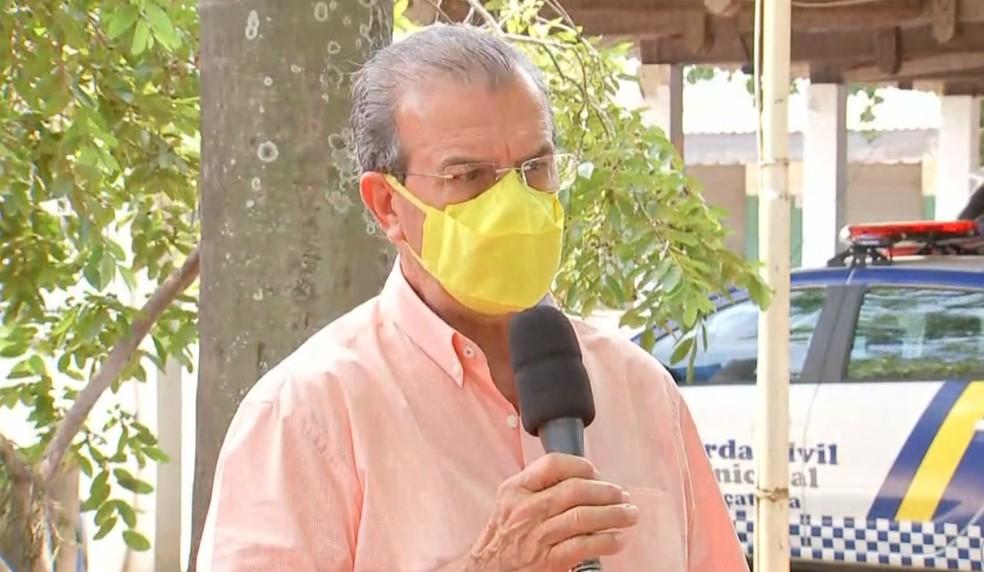 Prefeito de Araçatuba, Dilador Borges — Foto: Reprodução/TV TEM