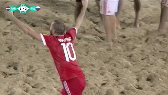 Os gols de Paraguai 1 x 2 Rússia pelo Torneio Intercontinental de futebol de areia