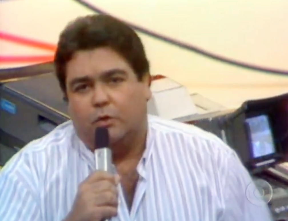 Estreia do programa 'Domingão do Faustão', em 26 de março de 1989 — Foto: Memória Globo