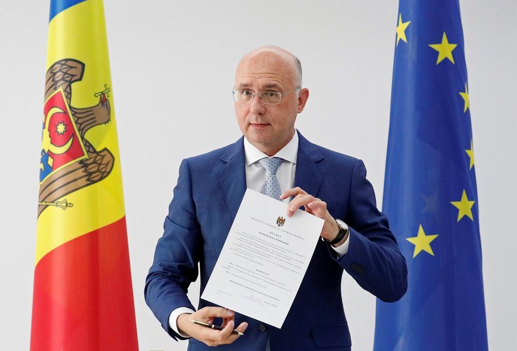 Presidente da Moldávia em exercício, Pavel Filip, dissolve Parlamento e convoca eleições — Foto: Valentyn Ogirenko/Reuters