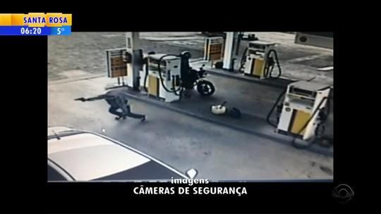 Câmera registra assalto que terminou com um morto no RS; veja o vídeo