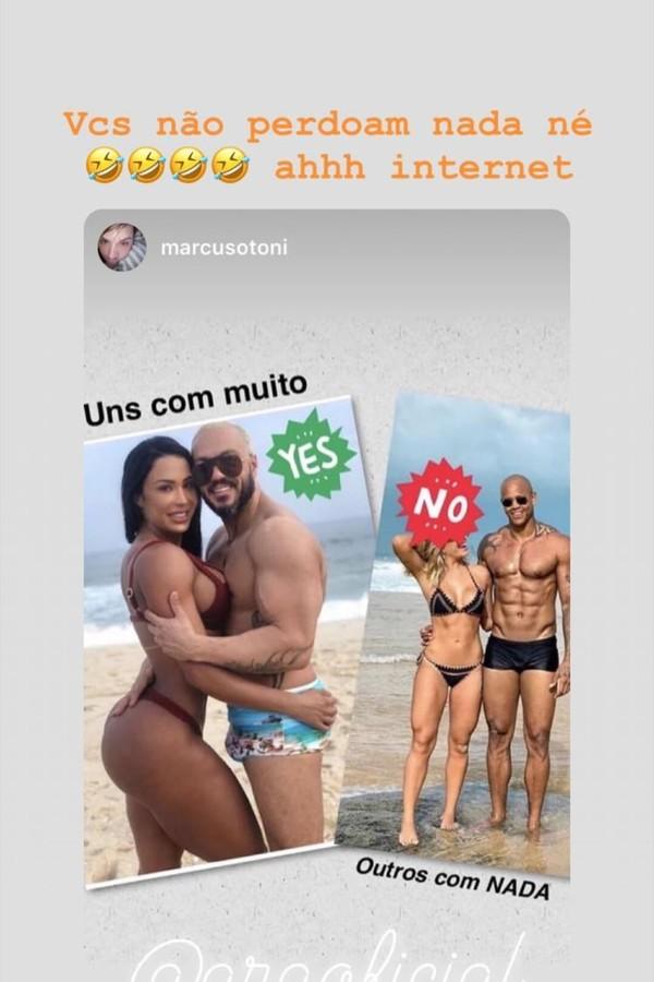 Montagem postada por Gracyanne Barbosa (Foto: Instagram/Reprodução)