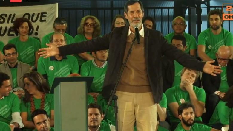 Eduardo Jorge, durante a convenção nacional da REDE Sustentabilidade (Foto: Divulgação/Facebook)