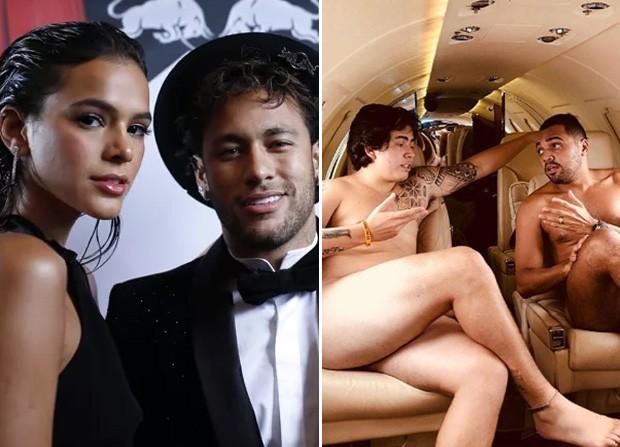 Bruna Marquezine e Neymar; Whindersson Nunes e Tirullipa (Foto: The Grosby Group/Reprodução/Instagram)