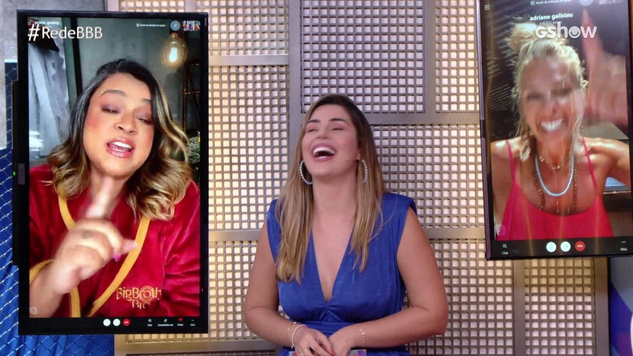 Na Mesa BBB, Preta Gil revela que Karol Conka é tímida: 'Fiquei surpresa'