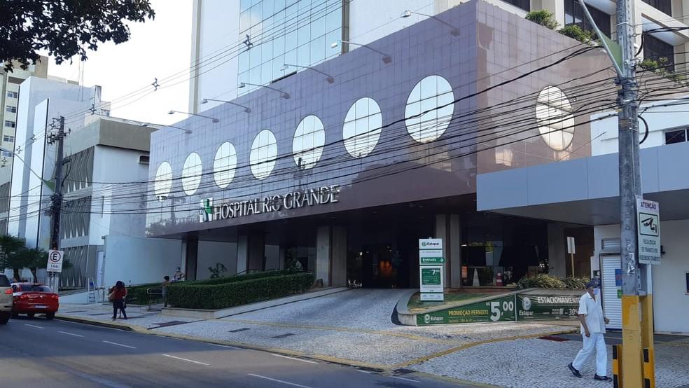 Hospital Rio Grande, em Natal, tem 100% de ocupação — Foto: Sérgio Henrique Santos/Inter TV Cabugi