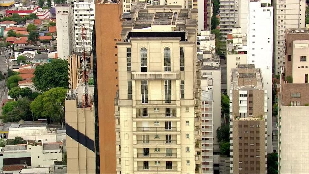 Cobertura do vice-presidente da Guiné-Equatorial é alvo de operação da PF em SP — Foto: Reprodução TV Globo