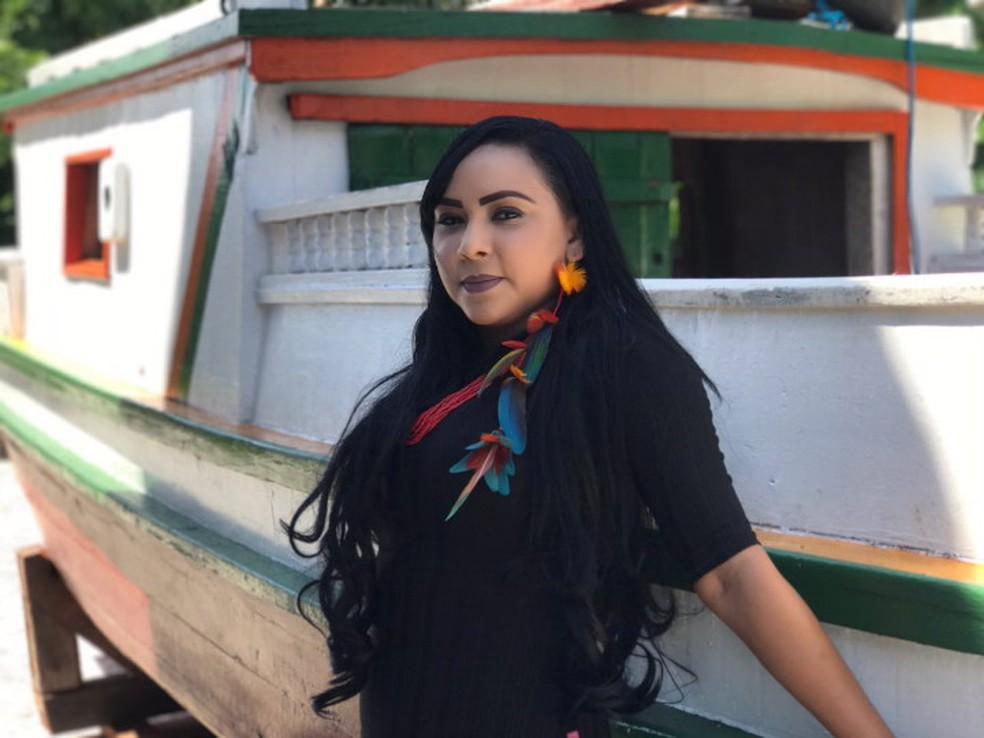 Cleyce Anambé é a primeira mulher indígena a concluir de direito da UFPA. — Foto: Arquivo Pessoal