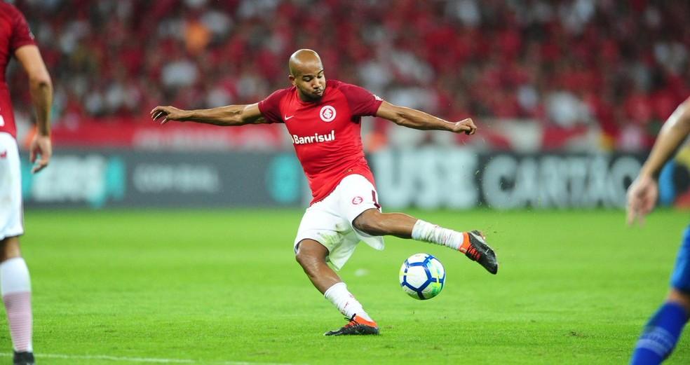 Patrick foi o jogador que mais tentou improvisos em finalizações no Brasileirão 2018 ? Foto: Ricardo Duarte/Inter