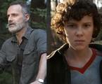 Cenas de 'The walking dead' e 'Stranger things' | Reprodução