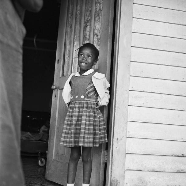 Ruby Nell Bridges at age 6, was the first African American child to attend William Franz Elementary School in New Orleans after Federal courts ordered the desegregation of public schools (Foto: Bettmann Archive)