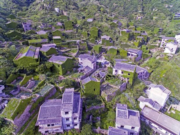 Vila na China é tomada por vegetação (Foto: Joe Nafis / Divulgação)