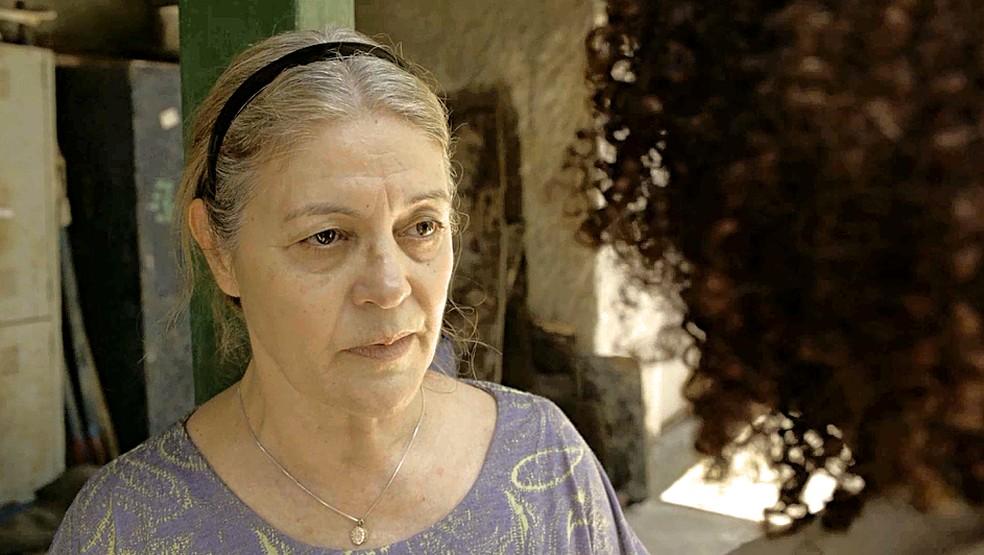 Nicete (Magali Biff) se recusa a dar informações sobre a PWA para Vitória em Amor de Mãe — Foto: Globo
