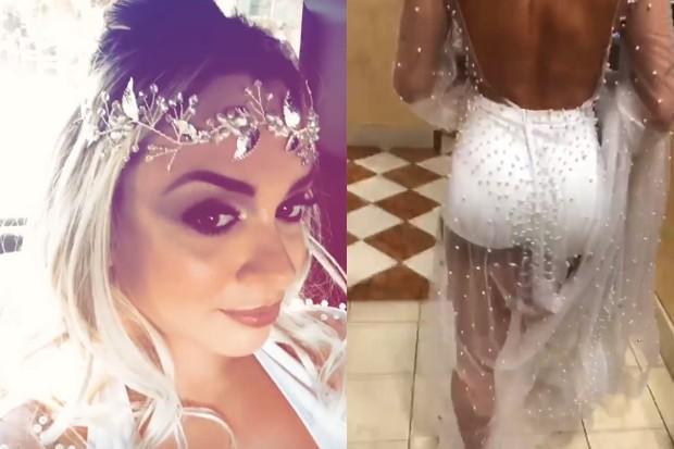Juju Salimeni escolhe look sexy para se casar em Las Vegas (Foto: Reprodução/Instagram)