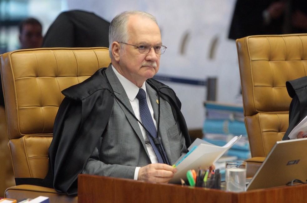 O ministro Luiz Edson Fachin durante a sessão desta quarta (2) do STF (Foto: Carlos Moura, STF)