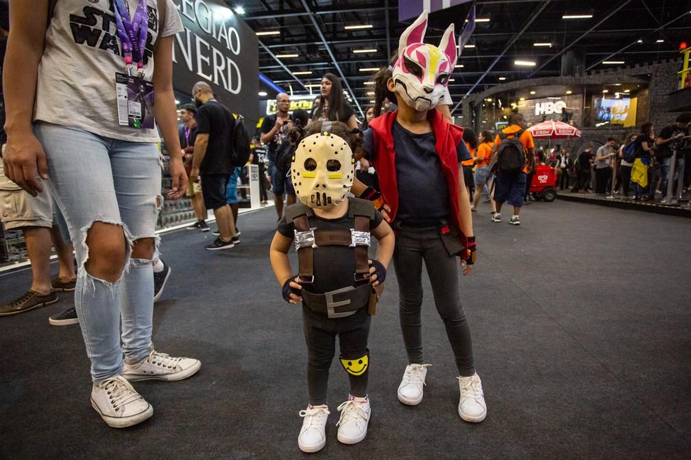 Cosplayzinhos de Fortnite na CCXP 2018 — Foto: Fabio Tito / G1