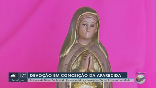 Imagem da Nossa Senhora do Café faz peregrinação por comunidades rurais em Conceição da Aparecida