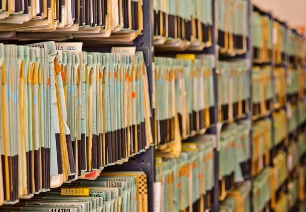 Documentos; Arquivos; Burocracia (Foto: Shutterstock)
