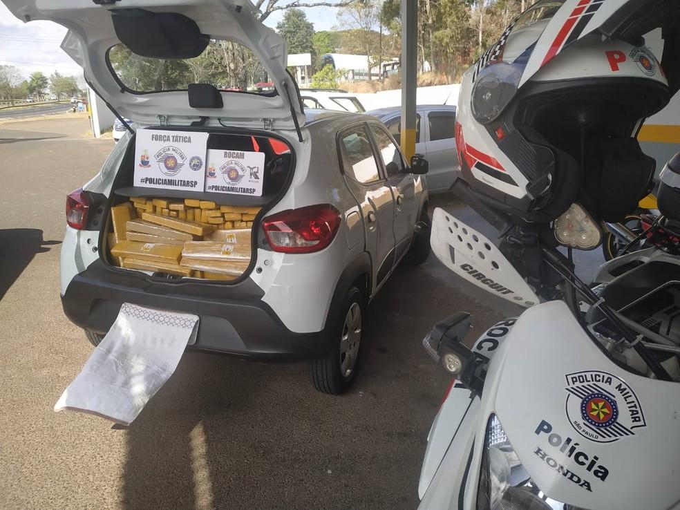 Adolescentes transportavam mais de 200 quilos de maconha — Foto: Polícia Militar
