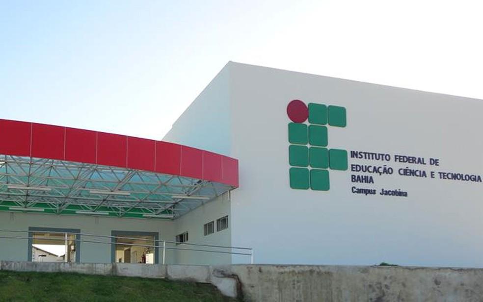 Campus do IFBA em Jacobina, uma das cidades que dispõe vaga para professor substituto — Foto: Divulgação