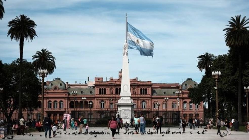A Casa Rosada, em Buenos Aires; Argentina tem dados preocupantes nas áreas social e econômica — Foto: SPENCER PLATT/GETTY IMAGES